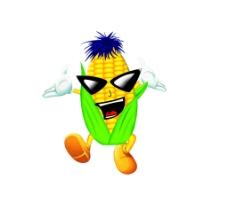 卡通玉米图片