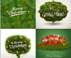 綠色圣誕素材圖片