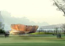 体育中心景观设计图片