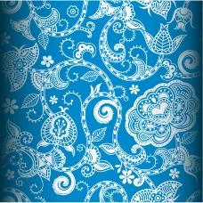 古典花卉底纹背景