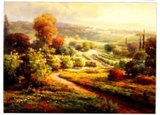 乡间油画风景