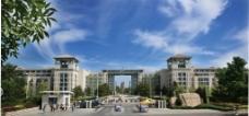 烟台大学南门图片