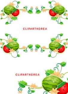 韩国西瓜花边图片