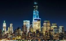 纽约城市夜景图片