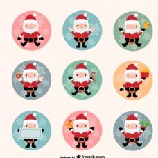 卡通圣诞老人集合