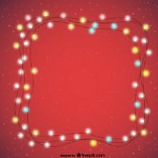 圣诞灯饰背景