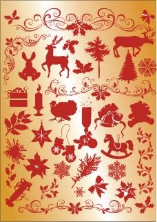 圣诞装饰花纹花边
