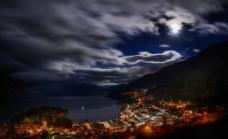 新西兰港口夜景图片