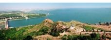 峡山水库全景图片