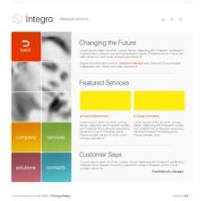 web界面设计 公司类模板图片