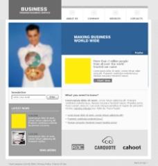 医疗商务类型网站模板图片
