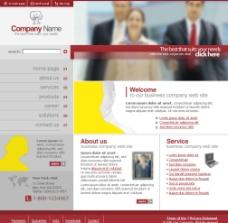 web界面设计英文模板图片