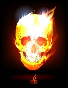 火焰骷髅图片