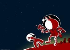 兔斯基月球 电脑桌面图片