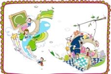 儿童矢量插画素材