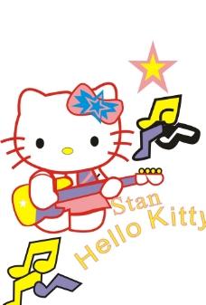 拿吉他的猫咪图片