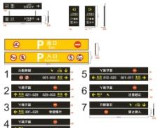 停车场指示牌灯箱图片