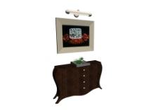 装饰柜模型图片