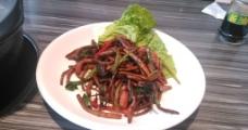 炒茶树菇图片