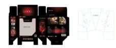 原创游戏型耳机彩盒包装图片