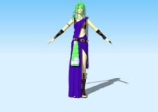 游戏美女3D模型