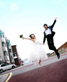 美丽外景婚纱照片图片