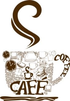 欧式风格咖啡主题元素