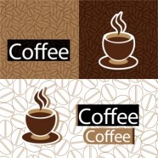 咖啡主题背景矢量