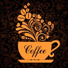 精美花纹咖啡背景
