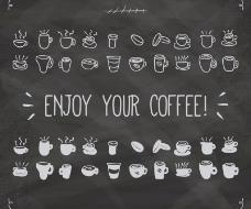 40款手绘咖啡图标