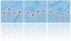 无框画简洁丛花