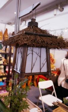 木材中式吊灯图片