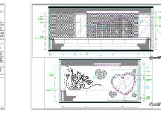 结婚包厢施工图cad图纸