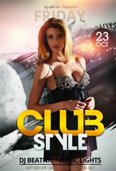 个性DJ明星派对海报图片