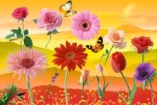 花朵分层素材图片