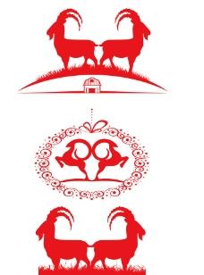 羊剪影素材图片