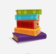 书本堆图片