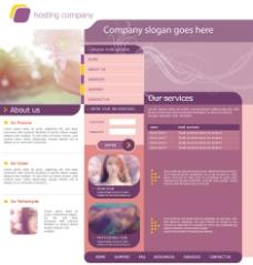 英文版女性风格网站模板图片