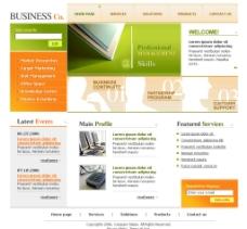 英文模板 国外企业站图片