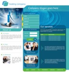 英文商务网站设计模板图片