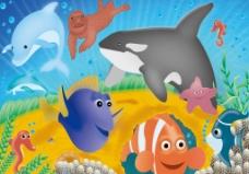 海底生物图图片