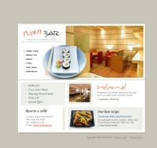 料理餐饮网页设计模板图片